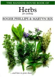 Cover of: Random House Book of Herbs for Cooking, The (Garden Plant Series)