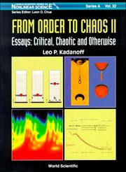 Cover of: From Order to Chaos II: Essays