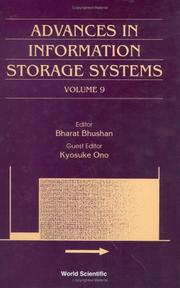 Cover of: Advances in information storage systems.