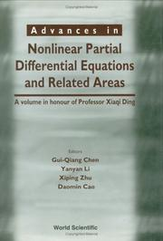 Cover of: Advances in Nonlinear Partial Differential Equations |