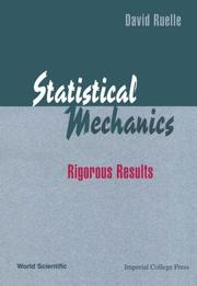 Statistical mechanics by David Ruelle