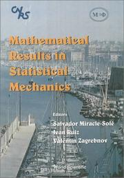Cover of: Mathematical Results in Statistical Mechanics |