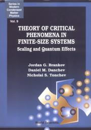 Cover of: Theory of critical phenomena in finite-size systems