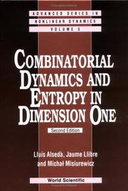 Cover of: Combinatorial dynamics and entropy in dimension one