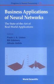 Cover of: Business Applications of Neural Networks |
