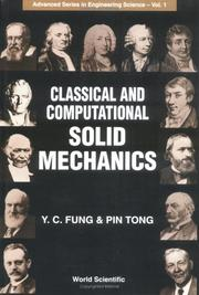 Cover of: Classical and computational solid mechanics | Y. C. Fung