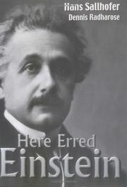 Cover of: Here erred Einstein