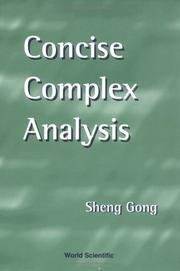 Cover of: Concise complex analysis