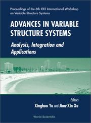 Cover of: Advances in variable structure systems | IEEE International Workshop on Variable Structure Systems (6th 2000 Gold Coast, Qld.)