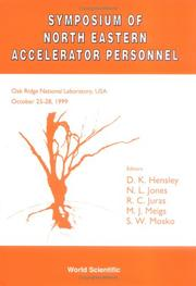Cover of: Symposium of North Eastern Accelerator Personnel | Symposium of Northeastern Accelerator Personnel