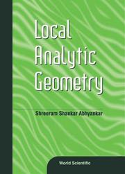 Cover of: Local analytic geometry | Shreeram Shankar Abhyankar