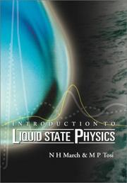Cover of: Introduction to liquid state physics