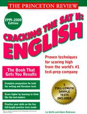 Cover of: Cracking the SAT II: English, 1999-2000 Edition (Cracking the Sat II: English) | Liz Buffa