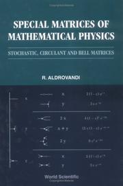 Cover of: Special matrices of mathematical physics