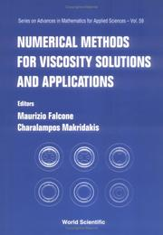 Cover of: Numerical methods for viscosity solutions and applications |