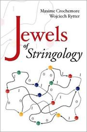 Cover of: Jewels of stringology