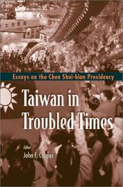 Cover of: Taiwan in troubled times