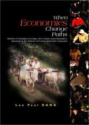 Cover of: When economies change paths | Leo Paul Dana