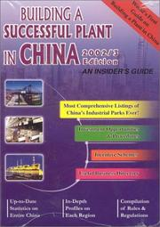 Cover of: Building A Successful Plant in China 2002/3 | China Knowledge Press