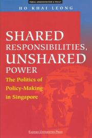 Cover of: Shared responsibilities, unshared power