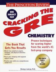 Cover of: Cracking the GRE Chemistry | Monique Laberge