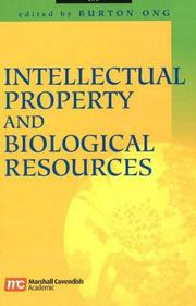 Cover of: Intellectual property and biological resources |