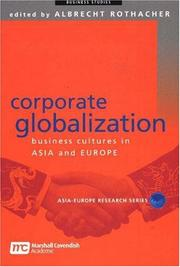Cover of: Corporate Globalization | Albrecht Rothacher
