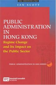 Cover of: Public administration in Hong Kong