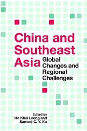 Cover of: China and Southeast Asia |
