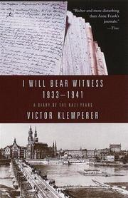 Cover of: I Will Bear Witness