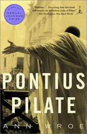 Cover of: Pontius Pilate  | Ann Wroe
