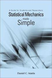 Cover of: Statistical Mechanics Made Simple