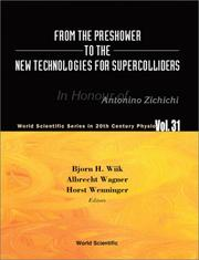 Cover of: From the preshower to the new technologies for supercolliders |