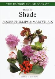 Cover of: The Random House Book of Plants for Shade (Random House Book of ... (Garden Plants))