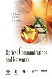 Cover of: Optical Communications and Networks |