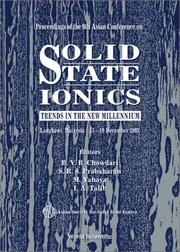 Cover of: Proceedings of the 8th Asian Conference on Solid State Ionics | Asian Conference on Solid State Ionics (8th 2002 Langkawi, Malaysia)