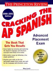 Cover of: Cracking the AP Spanish, 2000-2001 Edition (Cracking the Ap Spanish)