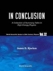 Cover of: In Conclusion | James D. Bjorken