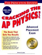 Cover of: Cracking the AP Physics, 2000-2001 Edition (Cracking the Ap. Physics)