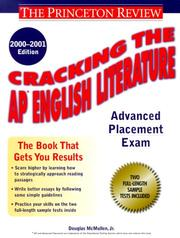 Cracking the AP English Literature, 2000-2001 Edition (Cracking the Ap English Literature Exam)