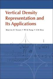 Cover of: Vertical density representation and its applications | Marvin D. Troutt