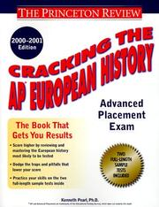 Cover of: Cracking the AP European History, 2000-2001 Edition (Cracking the Ap. European History)