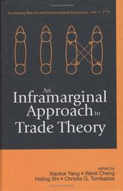 Cover of: An inframarginal approach to trade theory |