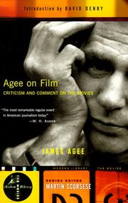 Cover of: Agee on film: reviews and comments