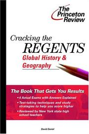Cover of: Cracking the Regents Global History & Geography, 2000 Edition