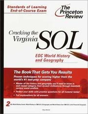 Cover of: Cracking the Virginia SOL EOC World History and Geography (Princeton Review: Cracking the Virginia SOL)