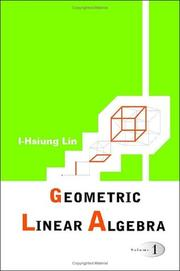 Cover of: Geometric linear algebra |