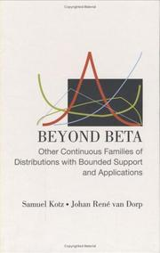 Cover of: Beyond beta: other continuous families of distributions with bounded support and applications