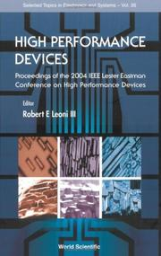 Cover of: High Performance Devices | Robert E., III Leoni