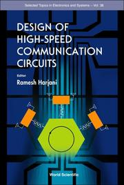 Cover of: Design of High-Speed Communication Circuits (Selcted Topics in Electronics and Systems)